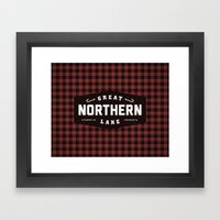 Great Northern Lake Framed Art Print