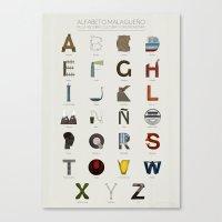Alfabeto malagueño © Canvas Print
