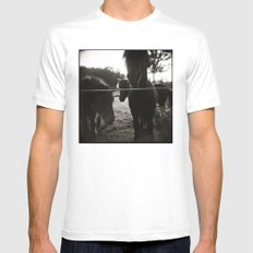 { pony pals } White SMALL Mens Fitted Tee