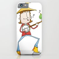 iPhone Cases featuring Banjo player by Pedro Vilas Boas