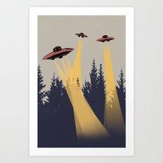 Alien INVASION! Art Print