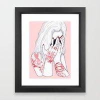 Love Loss Framed Art Print