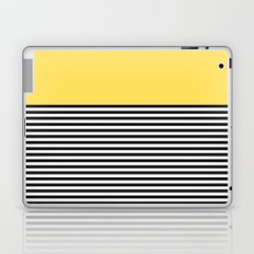 STRIPE COLORBLOCK {LEMON} Laptop & iPad Skin