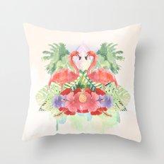 Exotic Flamingo Throw Pillow