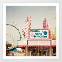Carnival Funnel Cake Fac… Art Print