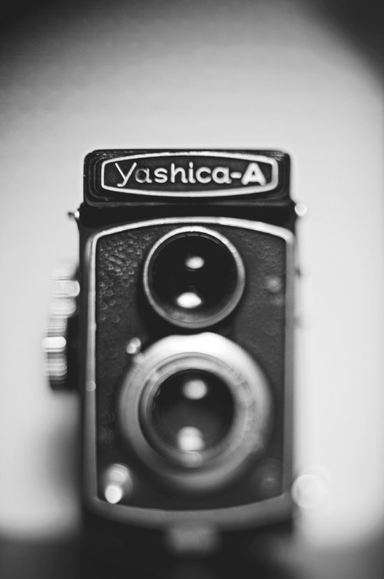 Yashica-A black and white Canvas Print