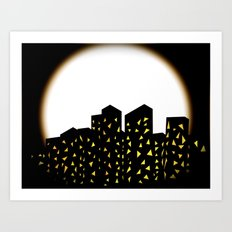 city people dont turn out their lights Art Print