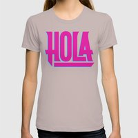 Hola Womens Fitted Tee Cinder SMALL