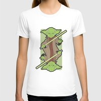 Yoda Womens Fitted Tee White SMALL