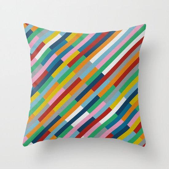 Bricks Rotate 45 Throw Pillow