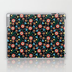 Folk Floral (Black) Laptop & iPad Skin