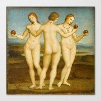 Raphael - The Three Graces Canvas Print