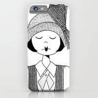 iPhone & iPod Case featuring Flapper Girl by kate gabrielle