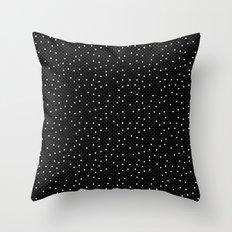 Pin Point Polka White on Black Repeat Throw Pillow