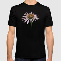 coneflower & bee postale SMALL Mens Fitted Tee Black