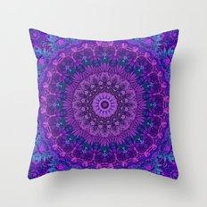 Harmony in Purple Throw Pillow