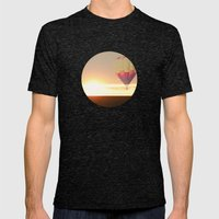 Balloons at Sunset Mens Fitted Tee Tri-Black SMALL