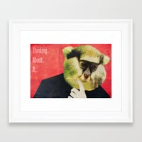Thinking about it... Framed Art Print