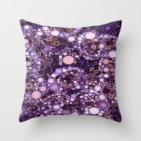 :: Purple Cow :: Throw Pillow