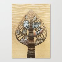 Owls Hotel Canvas Print
