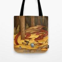 Smaug, The Last Dragon Tote Bag