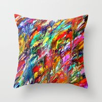 Colorful Waters Throw Pillow