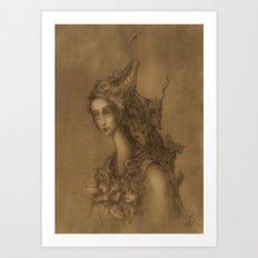 Her Retinue Art Print