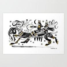 LA CHASSE Art Print