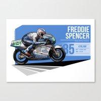 Freddie Spencer - 1985 Kyalami Canvas Print