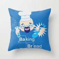 Baking Bread Kawaii Throw Pillow