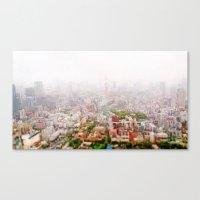 Rainy Tokyo Canvas Print