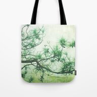 Tote Bag featuring Winter Pine by Bella Blue Photograp…