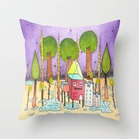 Dream House 2 Throw Pillow