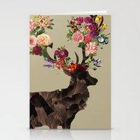 Spring Itself Deer Flower Floral Tshirt Floral Print Gift Stationery Cards