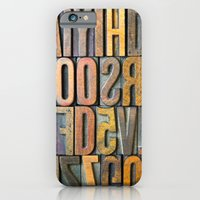 iPhone & iPod Case featuring Letterpress Stacked by Typography Photography™