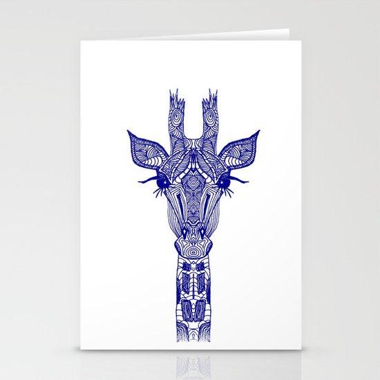 GIRAFFE BLUE Stationery Card
