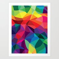 Color Shards Art Print