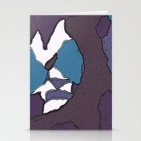 Man face Stationery Cards