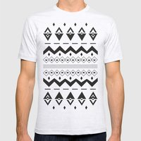 Peach Aztec Mens Fitted Tee Ash Grey SMALL
