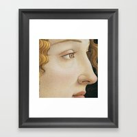 Botticelli c 1480 Portrait of Simonetta Vespucci detail Framed Art Print