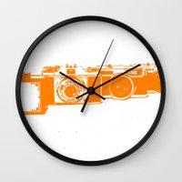 Orange Photo Wall Clock