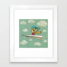 Paperplane2 Framed Art Print
