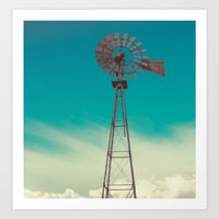 WINDMILL SKY  Art Print