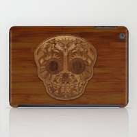 Wooden Sugar Skull iPad Case