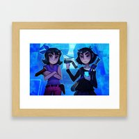 Raven And Crow Framed Art Print