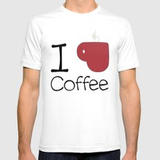 I ♥ COFFEE Mens Fitted Tee SMALL White