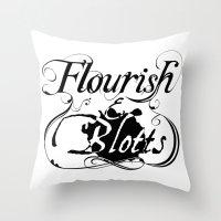 Flourish & Blotts of Diagon Alley Throw Pillow