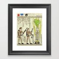 Hero-glyphics: Slimed Framed Art Print
