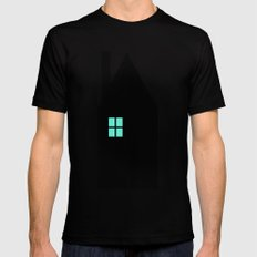 The House With The Turquoise Light On No.1 SMALL Mens Fitted Tee Black