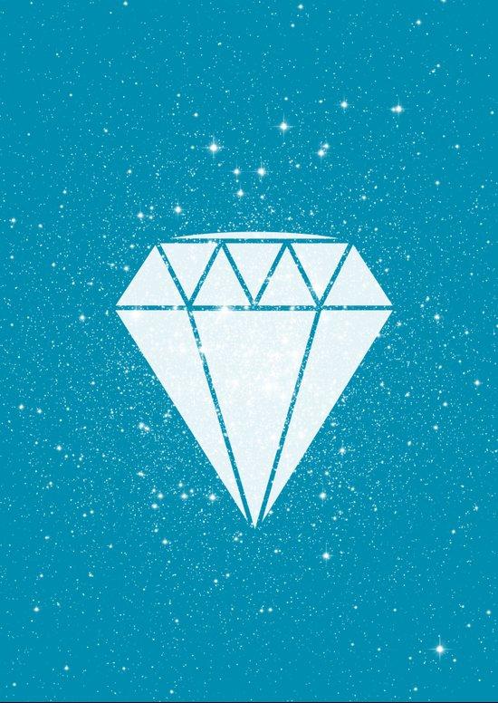 Space Diamond (blue) Art Print